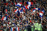 France fans celebrate after winning the 2018 FIFA World Cup Russia, Semi Final football match between France and Belgium on July 10, 2018 at Saint Petersburg Stadium in Saint Petersburg, Russia - Photo Thiago Bernardes / FramePhoto / ProSportsImages / DPPI