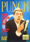 (Rowan Atkinson on the Road, Punch cover, Jan 1st, 1990)