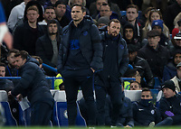 Football - 2019 / 2020 Premier League - Chelsea vs. West Ham United<br /> <br /> Frank Lampard,  Manager of Chelsea FC,  and assistant Jody Morris at Stamford Bridge <br /> <br /> COLORSPORT/DANIEL BEARHAM
