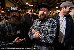 Jeff Holt and friends at Bill Dodge's Blings Cycles industry party during Daytona Bike Week. Daytona Beach, FL. USA. Wednesday March 14, 2018. Photography ©2018 Michael Lichter.