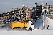 Salzfabrik am Toten Meer, En Boqueq, Totes Meer, Israel.|.Salt factory, En Boqeq, Dead Sea, Israel.