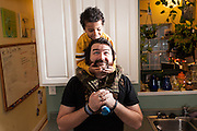 BALTIMORE, MD -- 12/22/14 -- Benjamin Jancewicz, 31, a designer from Baltimore, with his son, Arion Jancewicz, 6, talks about the complexity of being a biracial family.…by André Chung #_AC23553