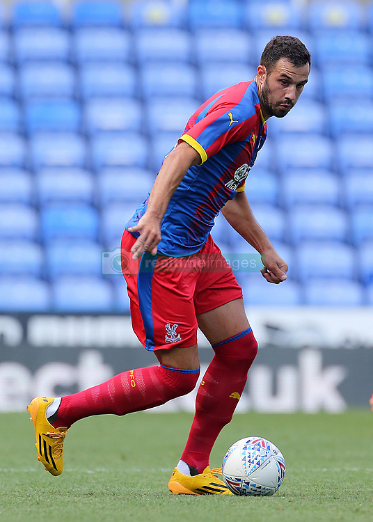 """Crystal Palace's Luka Milivojevic during the pre-season friendly match at the Madejski Stadium, Reading. PRESS ASSOCIATION Photo. Picture date: Saturday July 28, 2018. See PA story SOCCER Reading. Photo credit should read: Mark Kerton/PA Wire. RESTRICTIONS: EDITORIAL USE ONLY No use with unauthorised audio, video, data, fixture lists, club/league logos or """"live"""" services. Online in-match use limited to 75 images, no video emulation. No use in betting, games or single club/league/player publications."""