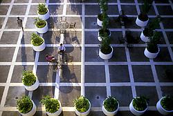 Stock photo of the outdoor break area at Allen Center, Houston, Texas
