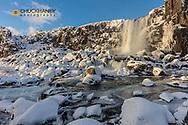 Oxararfoss in Pingevillar National Park in Iceland