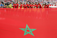 Team of Morocco during the 2018 FIFA World Cup Russia, Group B football match between Portugal and Morocco on June 20, 2018 at Luzhniki stadium in Moscow, Russia - Photo Thiago Bernardes / FramePhoto / ProSportsImages / DPPI