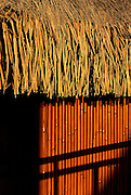 Image of a bungalow detail on Bora Bora, Tahiti, French Polynesia by Andrea Wells