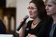 Anna Moffit responses to a question during the South Side Madison Madison School Board public forum hosted by Mount Zion Baptist Church in Madison, Wisconsin, Tuesday, March 6, 2018.