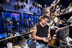 July 13, 2018 - Moscow, Russia - 180713 Igor Vladimir works with building the masks and bobys at the museum Muzey Vosstaniya Mashin during the FIFA World Cup on July 13, 2018 in Moscow..Photo: Petter Arvidson / BILDBYRN / kod PA / 92086 (Credit Image: © Petter Arvidson/Bildbyran via ZUMA Press)