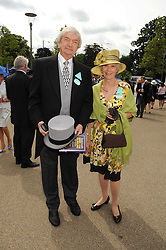 Cricter commentator RITCHIE BENAUD and his wife at the 1st day of the 2008 Royal Ascot racing festival on 17th June 2008.<br /><br />NON EXCLUSIVE - WORLD RIGHTS