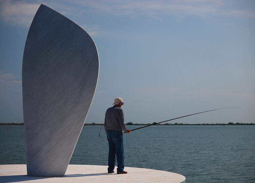 Italy - Porto Levante - Fisherman