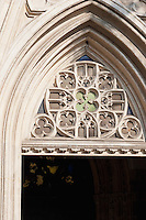 Architectural detail of entrance of a building in Rynek Glowny Market Square in Krakow Poland