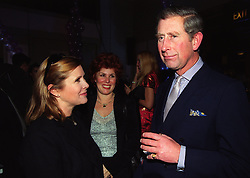 File photo dated 08/12/99 of Carrie Fisher (left) with the Prince of Wales, as the actress has died at age 60, her daughter's publicist said.