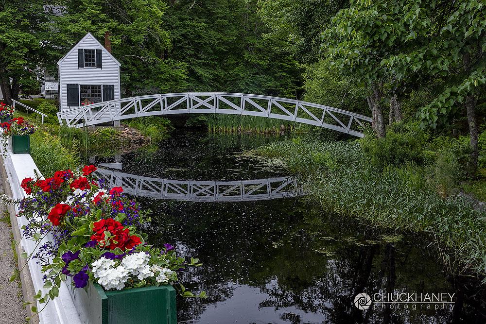 Arched Bridge in Somesville, Maine, USA