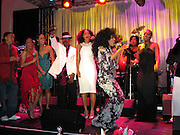 Jamie Foxx, Tracey Ross, Diana Ross, Fantasia.**EXCLUSIVE**.Clive Davis Pre Grammy Party.Beverly Hills Hotel.Beverly Hills, CA, USA.Saturday, February, 12, 2005.Photo By Celebrityvibe.com/Photovibe.com, New York, USA, Phone 212 410 5354, email:sales@celebrityvibe.com...