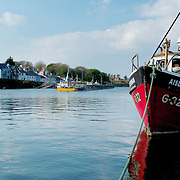View of Rounsdtone harbour fishing boats