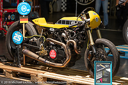 Sultans of Sprint display at the Intermot International Motorcycle Fair. Cologne, Germany. Saturday October 6, 2018. Photography ©2018 Michael Lichter.