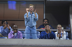 Model Gigi Hadid during Serena Williams (USA) during her second round at the 2019 US Open at Billie Jean National Tennis Center in New-York, USA, on August, 28, 2019. Photo by ABACAPRESS.COM