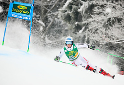 Fabio Gstrein of Austria competes during 1st run of Men's GiantSlalom race of FIS Alpine Ski World Cup 57th Vitranc Cup 2018, on March 3, 2018 in Kranjska Gora, Slovenia. Photo by Ziga Zupan / Sportida