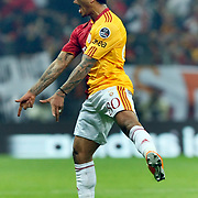 Galatasaray's Colin Kazim RICHARDS celebrate his goal during their Turkish superleague soccer derby match Galatasaray between Fenerbahce at the Turk Telekom Arena in Istanbul Turkey on Friday, 18 March 2011. Photo by TURKPIX