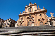 The Sicilian Baroque church of San Pietro. , Modica, Sicily<br /> <br /> USEFUL LINKS<br /> Sicilian Baroque https://en.wikipedia.org/wiki/Sicilian_Baroque<br /> Val di Noto UNESCO World Heritage Page https://whc.unesco.org/en/list/1024-004 .<br /> <br /> Visit our SICILY HISTORIC PLACES PHOTO COLLECTIONS for more   photos  to download or buy as prints https://funkystock.photoshelter.com/gallery-collection/2b-Pictures-Images-of-Sicily-Photos-of-Sicilian-Historic-Landmark-Sites/C0000qAkj8TXCzro<br /> .<br /> <br /> Visit our EARLY MODERN ERA HISTORICAL PLACES PHOTO COLLECTIONS for more photos to buy as wall art prints https://funkystock.photoshelter.com/gallery-collection/Modern-Era-Historic-Places-Art-Artefact-Antiquities-Picture-Images-of/C00002pOjgcLacqI