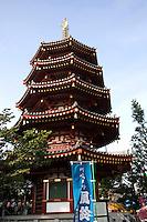 Daishi Pagoda Kawasaki - Kawasaki Daishi is the common name for Heiken-ji. Kawasaki Daishi Heikenji Temple belongs to the Chisan School of Shingon Buddhism and is well known for its power of Yakuyoke warding off evil.