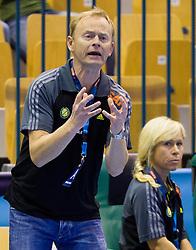Magnus Johansson, head coach of Savehof during handball match between RK Celje Pivovarna Lasko and IK Savehof (SWE) in 3rd Round of Group B of EHF Champions League 2012/13 on October 13, 2012 in Arena Zlatorog, Celje, Slovenia. (Photo By Vid Ponikvar / Sportida)
