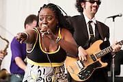 Sharon Jones and the Dap-Kings at Appel Farms Music & Arts Festival, Elmer, NJ 6/5/10