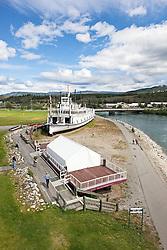 S.S. Klondike National Historic Site of Canada on the Yukon River in Whitehorse, Yukon, Canada