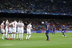 Lionel Messi of FC Barcelona 2-0 during the UEFA Champions League group D match between FC Barcelona and Olympiacos on October 18, 2017  at the Camp Nou stadium in Barcelona, Spain.