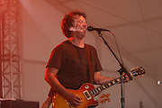 Ween featuring Dean Ween, pseudonym for Mickey Melchiondo (lead guitar, vocals), Gene Ween, pseudonym for Aaron Freeman (lead vocal, guitar), Dave Dreiwitz (bass), Claude Coleman Jr. (drums), and Glenn McClelland (keyboards) performs during the third day of the 2007 Bonnaroo Music & Arts Festival on June 16, 2007 in Manchester, Tennessee. The four-day music festival features a variety of musical acts, arts and comedians..Photo by Bryan Rinnert.