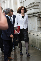 © Licensed to London News Pictures. 27/06/2016. LONDON, UK.  THERESA VILLIERS arrives for a cabinet meeting at 10 Downing Street this morning.  Photo credit: Vickie Flores/LNP