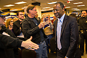 Dr. Ben Carson greets supporters as he walks to the stage to address at the South Carolina Tea Party Coalition convention on January 18, 2015 in Myrtle Beach, South Carolina. A variety of conservative presidential hopefuls spoke at the gathering on the third day of a three day event.