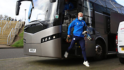 Ryan Broom of Peterborough United arrives at Northampton Town - Mandatory by-line: Joe Dent/JMP - 10/10/2020 - FOOTBALL - PTS Academy Stadium - Northampton, England - Northampton Town v Peterborough United - Sky Bet League One