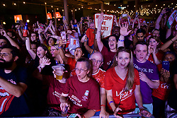 CHARLOTTE, USA - Saturday, July 21, 2018: Liverpool supporters attend an official Liverpool FC Legends live show at the Rooftop 102 in the Epicentre Charlotte ahead of a preseason International Champions Cup match between Borussia Dortmund and Liverpool FC in Charlotte. (Pic by David Rawcliffe/Propaganda)