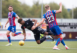 Falkirk's Myles Hippolyte and Inverness Caledonian Thistle's Coll Donaldson. Half time : Falkirk 0 v 0 Inverness Caledonian Thistle, Scottish Championship game played 14/10/2017 at The Falkirk Stadium.