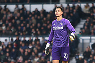 Derby County goalkeeper Kelle Roos (21) during the The FA Cup 3rd round match between Derby County and Southampton at the Pride Park, Derby, England on 5 January 2019.