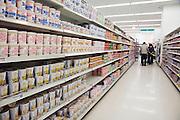 Japanese supermarket instant noodle soup aisle