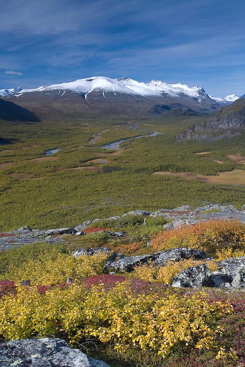 View along Rapadalen, Sarek National Park, Laponia World Heritage Site, Sweden