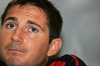 Photo: Paul Thomas.<br /> England Press Conference. 30/08/2006. <br /> <br /> Frank Lampard.