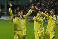 Football - UEFA Europa League - FC Utrecht vs. Steaua Bucharest. Steaua players applaud their travelling fans.