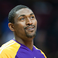 15 December 2009: Los Angeles Lakers forward Ron Artest is seen prior to the Los Angeles Lakers 96-87 victory over the Chicago Bulls at the United Center, in Chicago, Illinois, USA.
