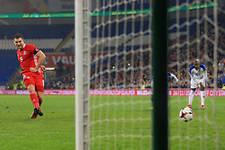 14th November 2017 - International Friendly - Wales v Panama - Sam Vokes of Wales sees his penalty saved - Photo: Simon Stacpoole / Offside.