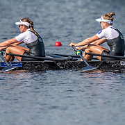 Olivia Loe and Brooke Donoghue New Zealand Womens Double Scull<br /> <br /> Semi-Finals races at the World Championships, Sarasota, Florida, USA Friday 29 September 2017. Copyright photo © Steve McArthur / Rowing NZ