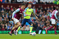 Aston Villa v Derby County - Sky Bet Championship<br /> BIRMINGHAM, ENGLAND - APRIL 28 :  Bradley Johnson, of Derby County closes down Aston Villa's, Jack Grealish.