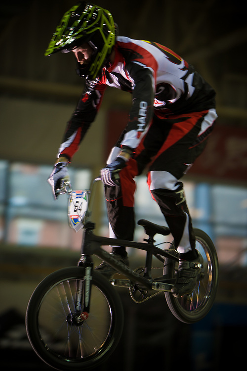 #64 (LONG Nicholas) USA at the UCI BMX Supercross World Cup in Manchester, UK