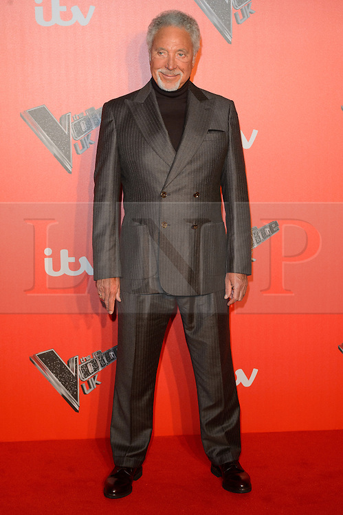 © Licensed to London News Pictures. 04/12/2017. SIR TOM JONES attends the Launch of The Voice UK on ITV, London, UK. Photo credit: Ray Tang/LNP
