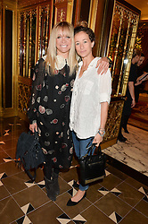 Left to right, JO WOOD and LEAH WOOD at the Cash & Rocket Tour Announcement Launch Lunch in association with McArthur Glen was held at The Grill, The Dorchester, Park Lane, London on 12th March 2015.