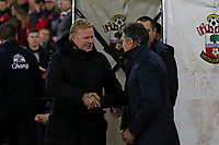 Football - 2016 / 2017 Premier League - Southampton vs. Everton<br /> <br /> Southampton Manager Claude Puel shakes hands with Everton Manager Ronald Koeman before kick off at St Mary's Stadium Southampton England<br /> <br /> COLORSPORT/SHAUN BOGGUST