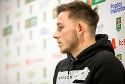 Josh Brownhill speaks in the pre match press conference ahead of Bristol City's Carabao Cup Quarter Final against Manchester United - Rogan/JMP - 18/12/2017 - Ashton Gate Stadium - Bristol, England - Bristol City v Manchester United - Carabao Cup Quarter Final.